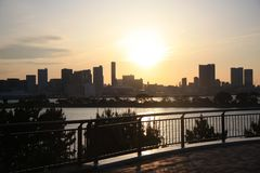 Tokyo bay. View from Odaiba Stock Images