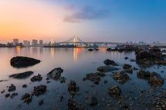 Tokyo bay view at sunset. Stock Photos