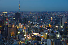 Tokyo bij Nacht Royalty-vrije Stock Afbeeldingen