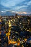 Tokyo bij Nacht Stock Afbeeldingen