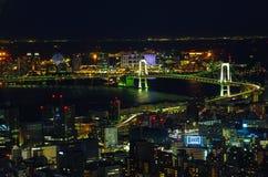 Tokyo bij Nacht Royalty-vrije Stock Afbeelding