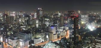 Tokyo bij nigh Stock Fotografie