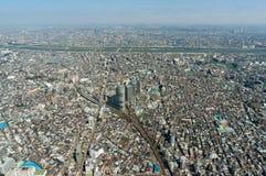 Tokyo bird eye view cityscape shot from Tokyo Skytree Observatio Royalty Free Stock Photos