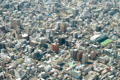 Tokyo bird eye view cityscape shot from Tokyo Skytree Observatio Stock Photo