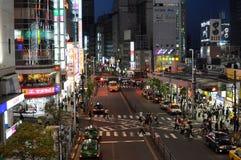 Tokyo bis zum Nacht lizenzfreies stockfoto