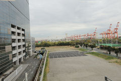 View of Daiba  area at japan. Tokyo is both the capital and largest city of Japan Royalty Free Stock Photo