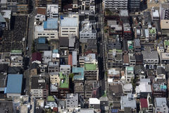 Tokyo building density Royalty Free Stock Photography