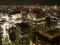 Tokyo_bynight. Tokyo by night: view from Tokyo City Hall Royalty Free Stock Image