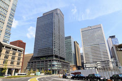 Tokyo CBD. Central Business District in Tokyo Royalty Free Stock Photos