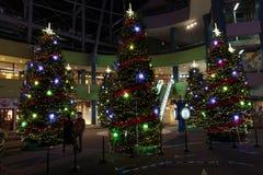 Christmas decorations at a Tokyo royalty free stock photos