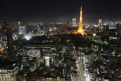 Tokyo City. Illuminated Tokyo City in Japan at night from high above Royalty Free Stock Photography