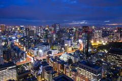 Tokyo, city aerial skyscape view of buildings and street. Japan, Stock Image