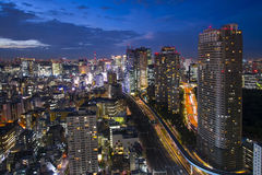 Tokyo, city aerial skyscape view of buildings and street. Japan, Stock Photos