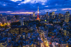 Tokyo, city aerial skyscape view of buildings and street. Japan, Royalty Free Stock Images