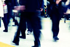 Tokyo City Commuters Stock Photo