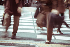 Tokyo City Commuters Royalty Free Stock Image