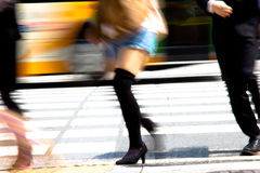 Tokyo City Commuters Royalty Free Stock Photo