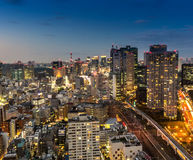 Tokyo city at night Stock Photo