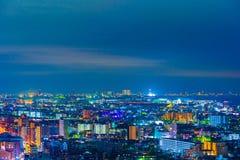 Tokyo city at night, Japan stock photography