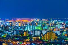 Tokyo city at night, Japan stock images