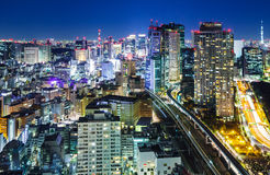Tokyo city at night Stock Photography
