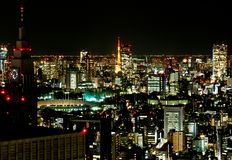 Tokyo city at night 3 Royalty Free Stock Photo