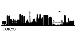 Tokyo city silhouette. Vector skyline illustration Royalty Free Stock Image