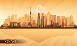 Tokyo city skyline. Vector silhouette illustration Stock Photography