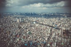 Tokyo city skyline aerial view, Japan. Tokyo city skyline panorama aerial view, Japan royalty free stock photos