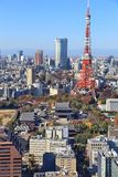 Tokyo, Japan. Tokyo city skyline - aerial view with Roppongi and Minato wards stock photography