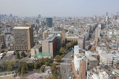 Tokyo city skyline. Bunkyo ward aerial view. Royalty Free Stock Photography