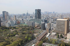Tokyo city skyline. Bunkyo ward aerial view Stock Photography