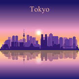 Tokyo city skyline silhouette background Royalty Free Stock Photos