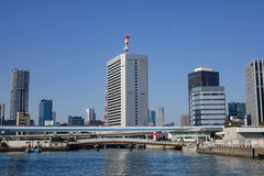 Tokyo City Skyscraper. Modern buildings at Tokyo bay in Tokyo, Japan. Tourism in Tokyo is also a contributor to the economy stock image