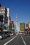 Tokyo city street view Royalty Free Stock Photography