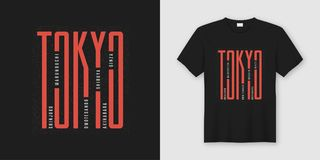 Tokyo city stylish t-shirt and apparel design, typography, print. Vector illustration. Global swatches vector illustration