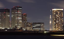 Tokyo city with Tokyo sky tree Royalty Free Stock Images