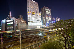 Tokyo City train station Royalty Free Stock Photography