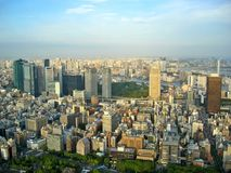 Tokyo City View. View from Tokyo Tower, Japan royalty free stock image