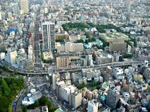 Tokyo City View. View from Tokyo Tower, Japan royalty free stock photography