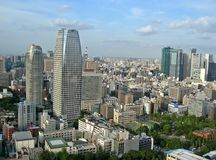 Tokyo City View. View from Tokyo Tower, Japan stock image