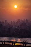 Tokyo city view. In beautiful sunset time Royalty Free Stock Photos