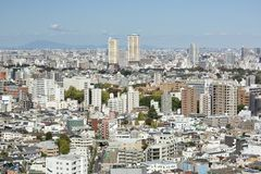 Tokyo City view from Bunkyo Observation Deck royalty free stock photo