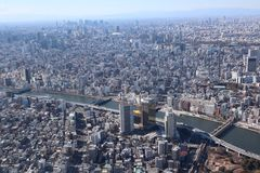 Tokyo city view from Tokyo Skytree stock photos