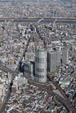 Tokyo city view from Tokyo Skytree stock photo
