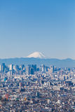 Tokyo city view and Mountain Fuji Royalty Free Stock Photo