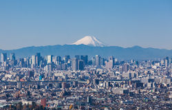 Tokyo city view and Mountain Fuji Stock Image