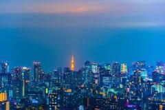 Tokyo city at night, Japan royalty free stock image