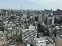Tokyo city view point. From the bunkyo civic tower in a morning Royalty Free Stock Photos