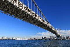 Tokyo city view,Rainbow bridge Royalty Free Stock Photo